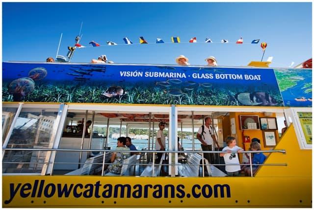 yellow catamarn lateral